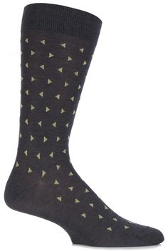 Pantherella Business Modern Parkham Allover Triangled Cotton Socks £12.00