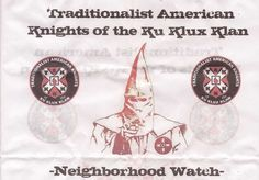 Similar leaflets have showed up in states across the country in recent months in an apparent recruiting effort by the Ku Klux Klan.