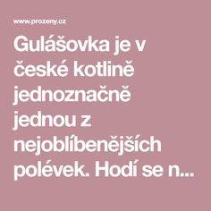"""Gulášovka je v české kotlině jednoznačně jednou z nejoblíbenějších polévek. Hodí se na pořádnou svačinu i k večeři a milují ji snad všichni. Podle našeho receptu si pořádnou """"hospodskou husťačku"""" uděláte raz dva i doma."""
