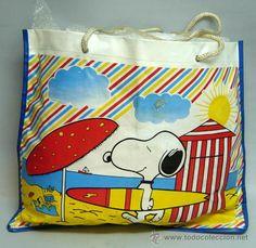 Bolsa playa Snoopy años 80 plástico - Foto 2