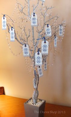 Wedding Party or Shower Wish Tree Silver Wish Tree by TheDeevaShop, $135.00