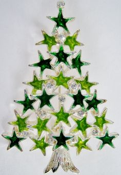 Christmas tree pins from Bijoutree's JEWELED FOREST