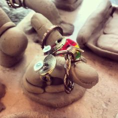 :) Clay Jewelry, Jewelry Art, Jewelry Holder, Bracelets, Bangles, Arm Bracelets, Bracelet, Bangle, Super Duo