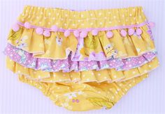 Baby girl ruffled nappy cover/bloomers size size 3-6 months