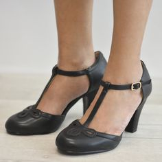 61fc56c4e31 Capture vintage-inspired style with these Mary Jane Pumps! A decorative  cut-out