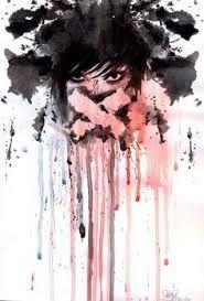 GIRL, ILLUSTRATION, INK, PAINT, RUSS MILLS, SPLATTER - Google-Suche