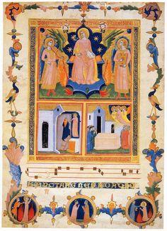 Pacino di Buonaguida -  Laudario della Compagnia di Sant'Agnese - 1320 - tempera e oro su pergamena - British Library