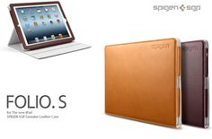 The SPIGEN Folio.S Case is a finely hand-crafted folio style case, made of high-quality genuine leather.