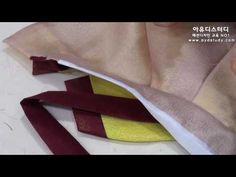 [아유디스터디] 한복기능사 아동용 회장저고리 13강 고름연결및 동정달기(32 35) - YouTube