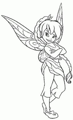 fairies and pixies coloring pages | PIXIE HOLLOW FAIRY COLORING PICTURES