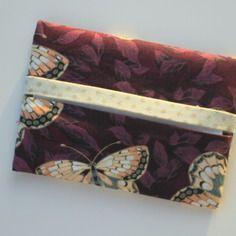 Etui à mouchoirs , pochette à mouchoirs papier ,  coton fantaisie violet