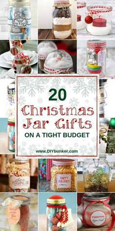 These Christmas jar gift ideas are great if you want to make a quick and easy present. Use your creativity to create the perfect homemade gift! Christmas Jar Gifts, Christmas Gift Baskets, Christmas Mason Jars, Christmas Presents To Make, Christmas Crafts, Christmas Stuff, Christmas Ideas, Mason Jar Gifts, Mason Jar Diy