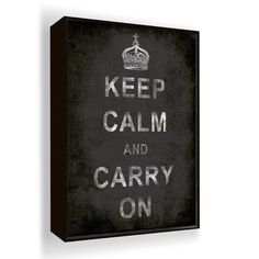Keep Calm And Carry On Wall Art.