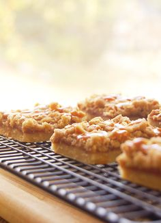 These delicious apple pie bars are gluten free! They taste just like the fried apple pies McDonald's used to serve before they started baking them. I miss those!