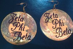 Zeta Phi Beta Z Phi B 1920 Earrings for by AddiCakeCreations, $8.75