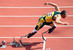 Oscar Pistorius of South Africa competes in the Men's 400m Round 1 Heats on Day 8 of the London 2012 Olympic Games at Olympic Stadium on August 4, 2012 in London, England. -- Photo by: Paul Gilham/Getty Images