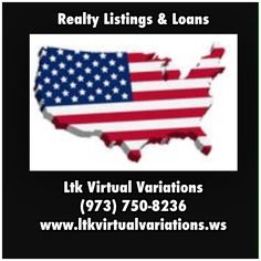 Ltk Virtual Variations, Realty Listings & Loans, (973) 750-8236, www.ltkvirtualvariations.ws  | Available Loans: Blanket, Business, Construction, Rehab, Commercial, Hard Money, Bridge, Unrestricted, International, Personal, Reverse Mortgage, Farm, Real Estate Investors, Land, Home | Inquire and get Pre-Approved Today!