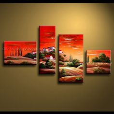 Wall Art Paintings stunning contemporary wall art oil painting on canvas panels