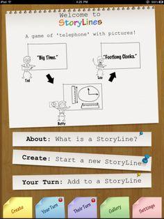Storylines App - Collaborative Digital Storytelling Free