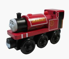 100% Original SKARLOEY Thomas Friends The Tank Train Wooden Engine Child HC95