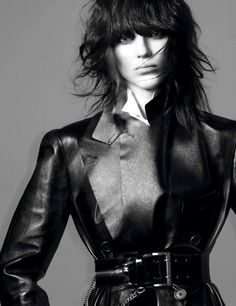 "Kati Nescher | VOGUE PARIS | Editorial ""Le Noir Dans La Peau""  November 2012 
