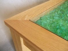 Bender The coolest way to display Lake Erie beach glass! Erie Beach, Lake Erie, Small Tables, Sea Glass, Room Ideas, Shades, Crafty, Display, The Originals