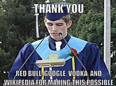 Meanwhile, At A Graduation