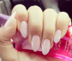 cute light pink acrylic nails