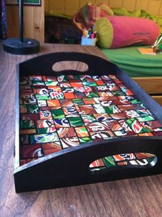 #upcycled pop cans tray