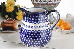 Dzbanek ceramiczny na wodę GU-1424 DEK. 166A Bolesławiec 2 l