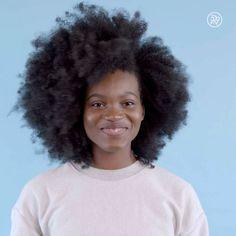 Afro hair. Natural hair. Kinky hair. Kinky coily hair. Tight curls.