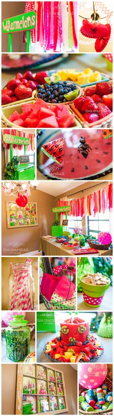 Watermelon Themed Birthday Party