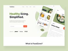 The Foodzone landing page interaction Web Design Studio, Web Design Agency, Best Web Design, Make Design, Branding Design, Restaurant Website Design, Website Header Design, How To Eat Better, Directory Design