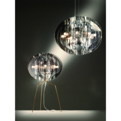 As assertive as its name suggests, this lamp refers to the strength of terrestrial life forms, the Earth itself, and its place in the Universe. www.mondocollection.com - ATLANTE TABLE LAMP, $1,184.00 (http://www.mondocollection.com/ATLANTE-TABLE-LAMP-FUME/)