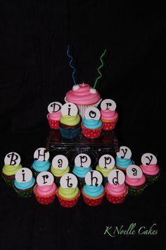 Birthday cupcakes Birthday Cupcakes, 2nd Birthday, Cake Creations, Cup Cakes, I Love Food, How To Make Cake, Cake Ideas, Decor Ideas, Favorite Recipes