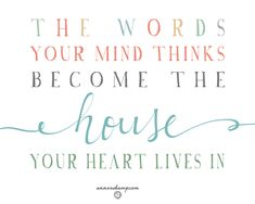 the words your mind thinks