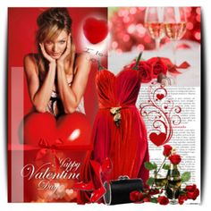 """""""Happy Valentine!"""" by calicali1810 on Polyvore"""