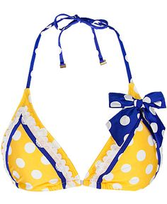 Betsey Johnson Xi love = one day I will wear an itsy bitsy teenie weenie yellow polka dot bikini! LOVE BETSY JOHNSON, awesome Alpha Xi sister right there :) Alpha Xi Delta, Tri Delta, Sigma Chi, Bikinis, Swimwear, Swimsuits, Beachwear, Polka Dot Bikini, Polka Dots
