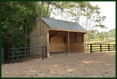 Board & Batten Horse Run - In - Georgia Horse Barn Builder