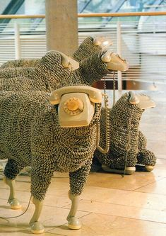 Telephone Sheep Exhibit by artist Jean Luc Cornec...I so would have loved to have seen this!