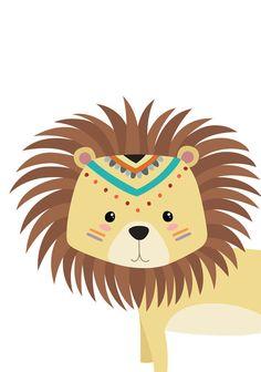 Lion nursery art Baby lion print Nursery boy decor Jungle