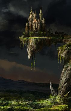 Castle Fantasy Art #FantasyArt #Castles VistaLore daily pics of beauty & imagination GameScapes screenshots gaming games Images pictures Fantasy Concept digital art