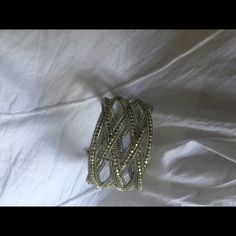 🆕 Cuff Bracelet with Silver Beads/Detail Beautiful Silver Cuff Bracelet gently worn a couple of times  As new condition 🆕 NEW LISTING Jewelry Bracelets