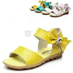 50d29f9e76f   11.99  Chica Zapatos Semicuero Verano Confort Pajarita para Amarillo    Verde   Morado