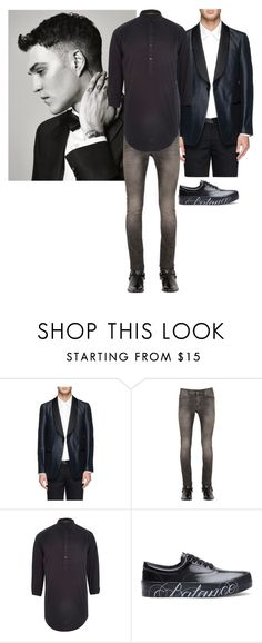 """Axel Grady"" by ashleyr0sexo ❤ liked on Polyvore featuring Ovadia & Sons, Yves Saint Laurent, River Island, Undercover, men's fashion and menswear"