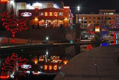 Picture of Earls in Lower Bricktown and the canal in December.