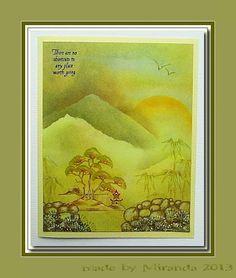 Pan Pastel BNL: Oosterse landschapjes in groen tinten.....