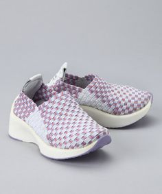 Take a look at this Lilac Woven Sneaker by L'Amour Shoes on #zulily today!