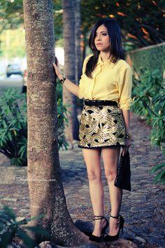 Blog da Lê-Moda Acessível: Amarelo com Paetê