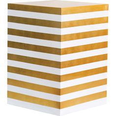 gold leaf striped stool